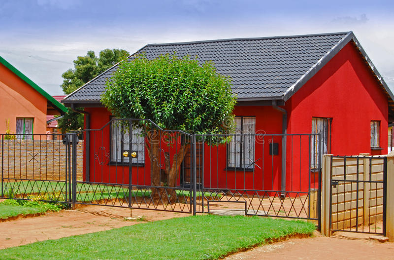 Rotes Haus stockbild