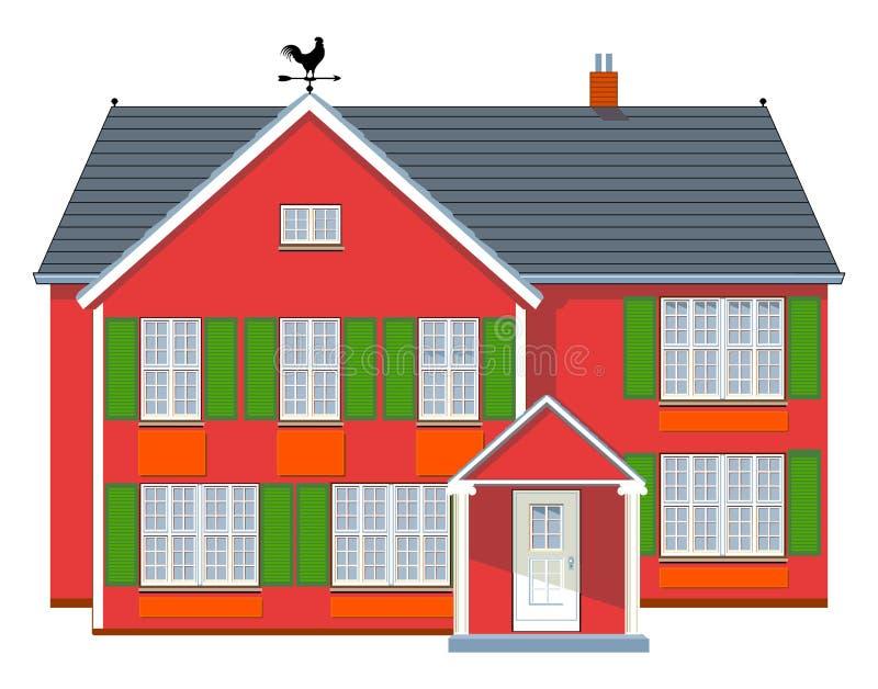 Rotes Haus lizenzfreie abbildung