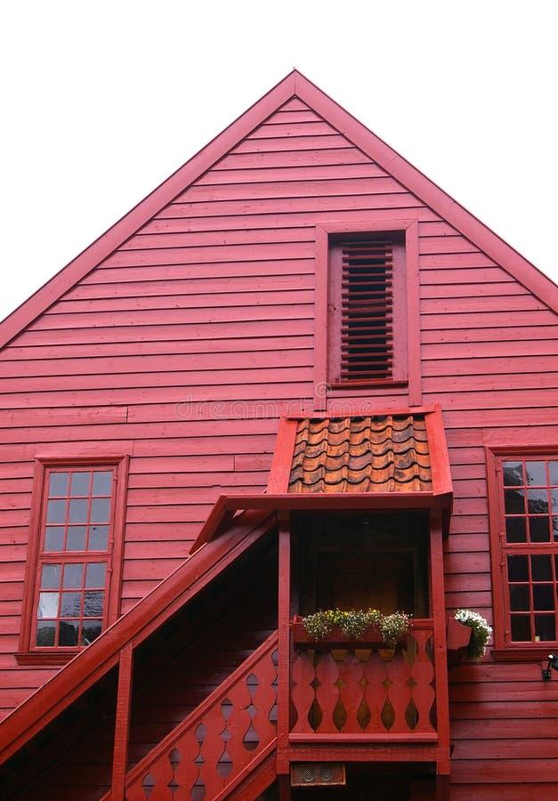 Rotes Haus stockfotos