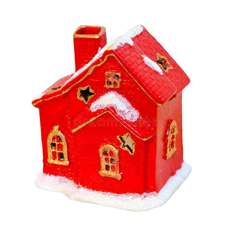 Rotes Haus getrennt stockfoto