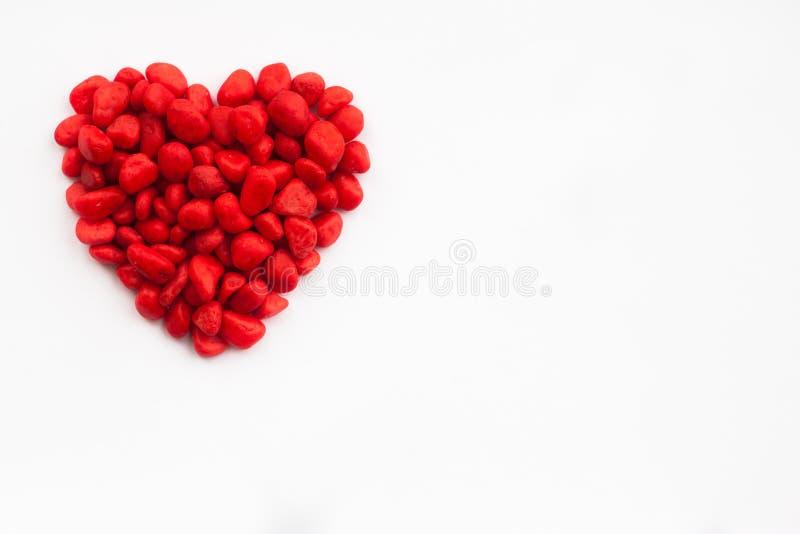 Rotes Herz der Süßigkeit lokalisiert lizenzfreie stockfotos