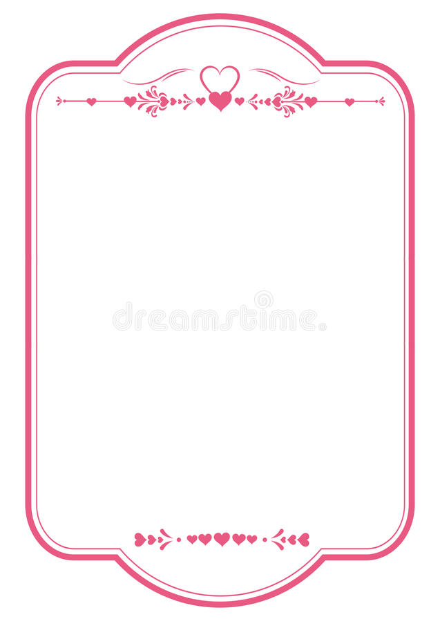 Rotes Herz Valentine\' S-Rahmen Stockbild - Bild von valentine, weiß ...