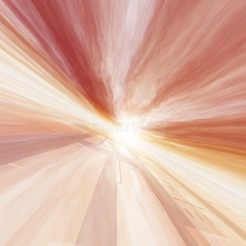 Rotes Horizont-Punkt-Gitter Sun lizenzfreie abbildung