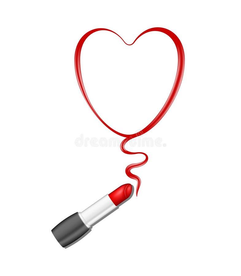 Rotes Inneres und Lippenstift lizenzfreie abbildung