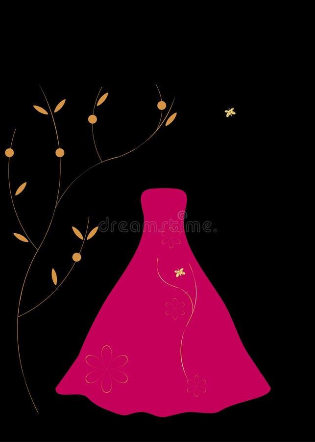 Rotes Kleid für Abend vektor abbildung
