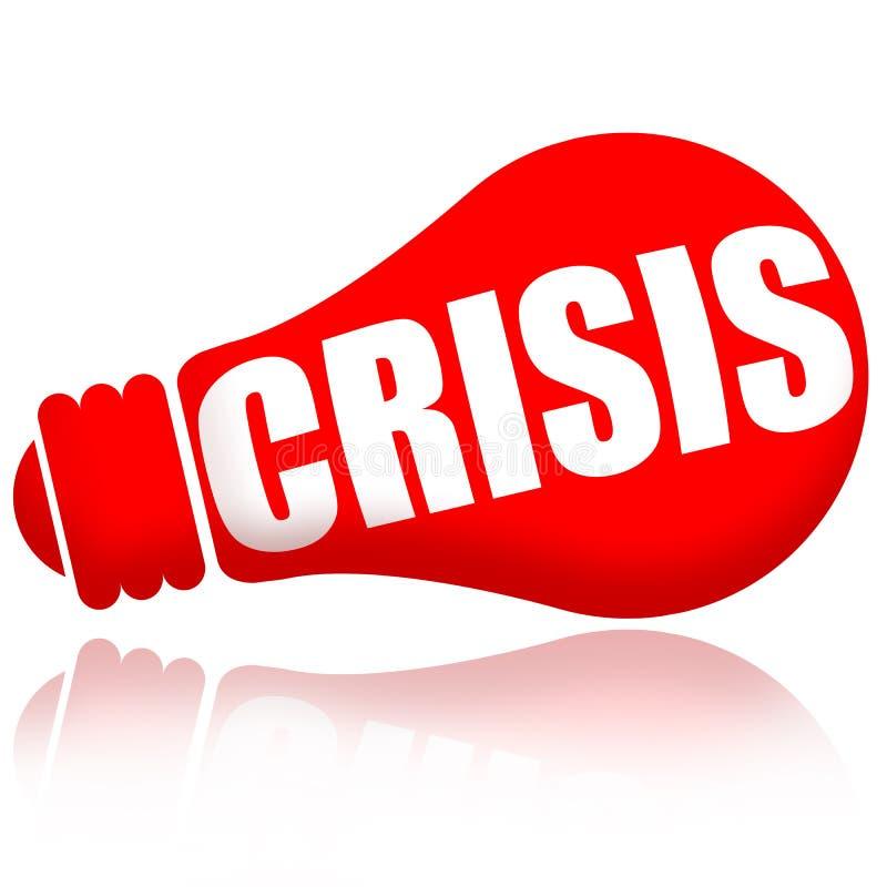 Rotes Lampensignal der Krise stock abbildung