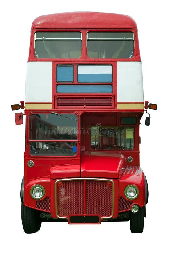 Rotes London-Busprofil stockfotos