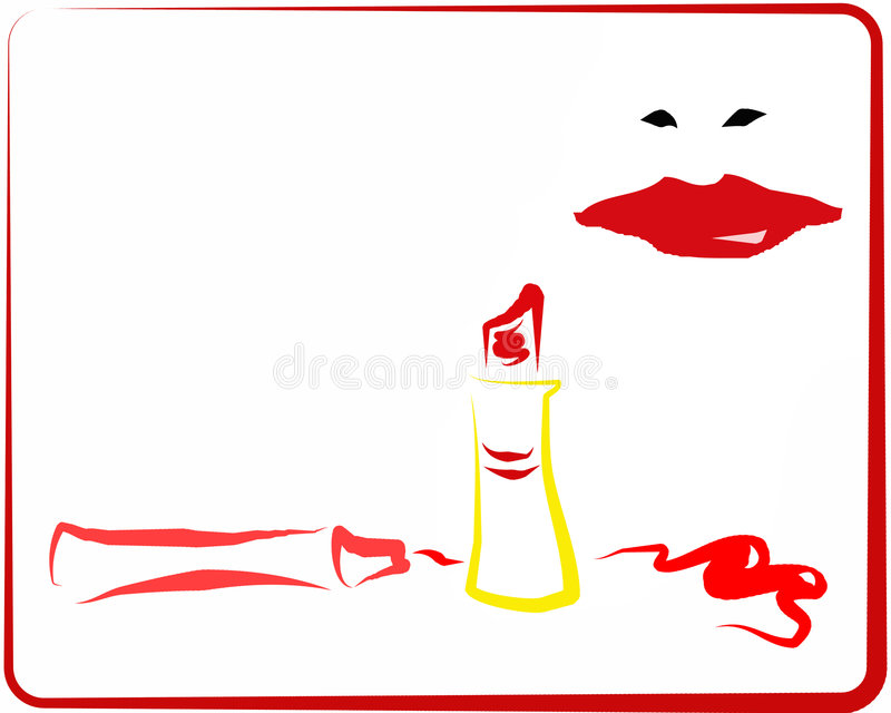 Rotes Makeup_2 lizenzfreie abbildung