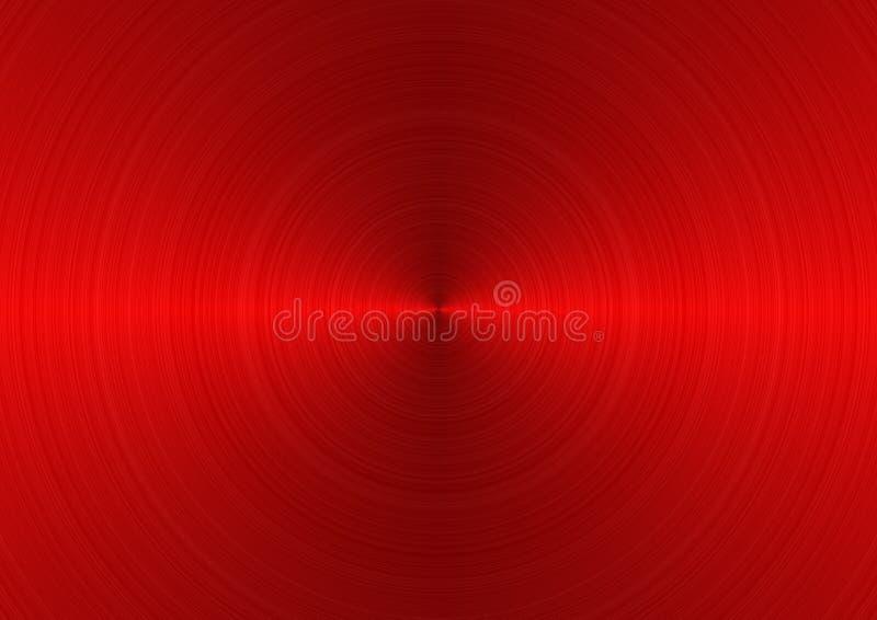 Rotes Metall ein Hintergrund lizenzfreie abbildung