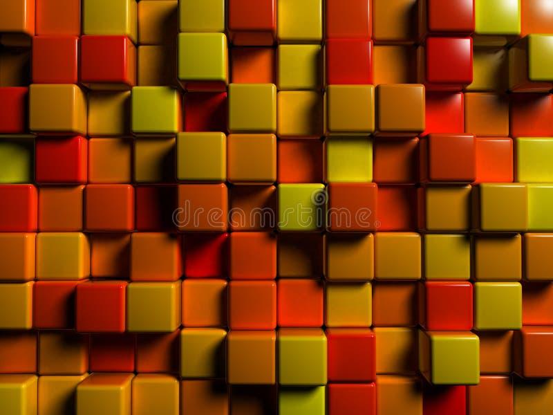 Rotes Mosaik lizenzfreie abbildung
