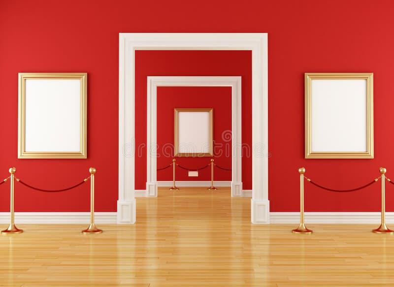 Rotes Museum vektor abbildung