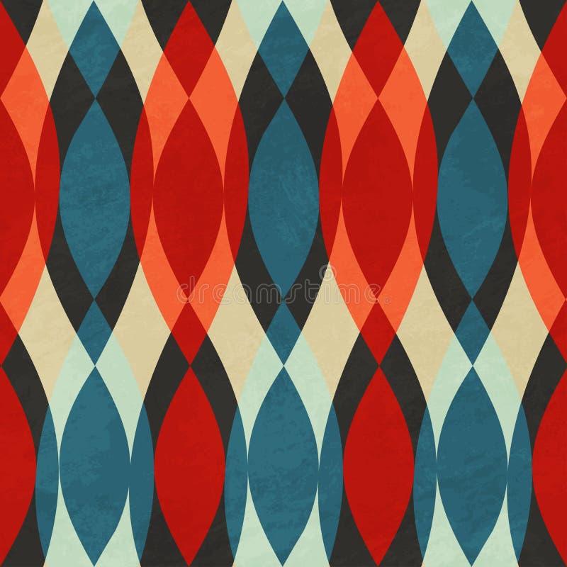 Rotes nahtloses Muster der Weinlese vektor abbildung