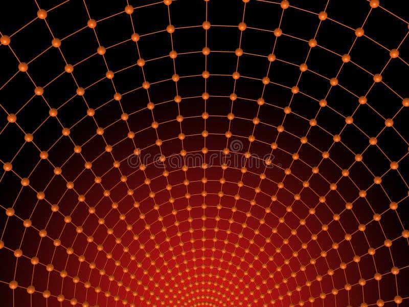 Rotes Netz stock abbildung