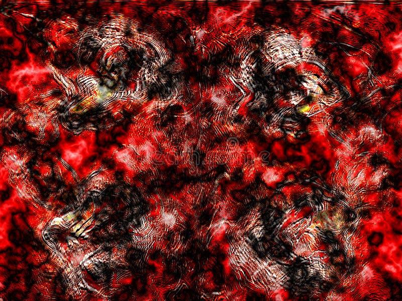 Rotes orange Grunge lizenzfreie abbildung