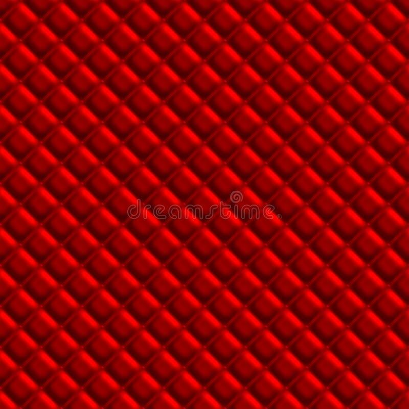 Rotes Padden-Polsterungs-Muster lizenzfreie abbildung