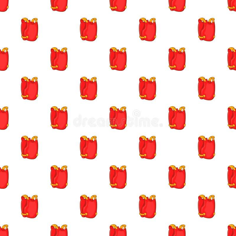 Rotes Paintballwestenmuster, Karikaturart lizenzfreie abbildung