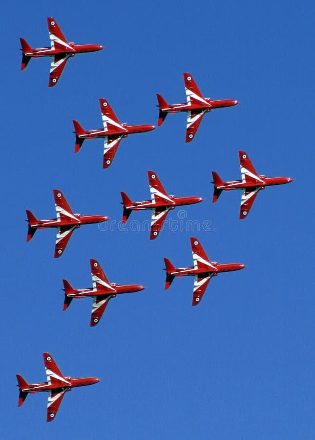 Rotes Pfeilbildschirmanzeigeteam 04 stockbild