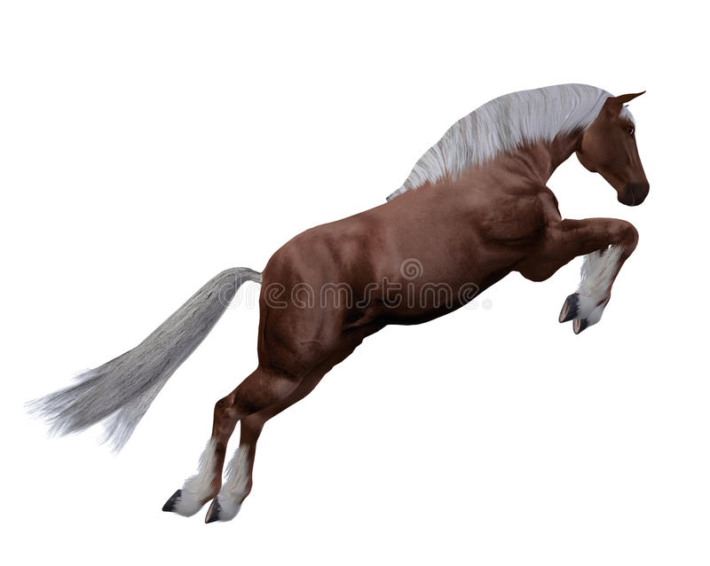 Rotes Pferd mit der weißen Mähne vektor abbildung