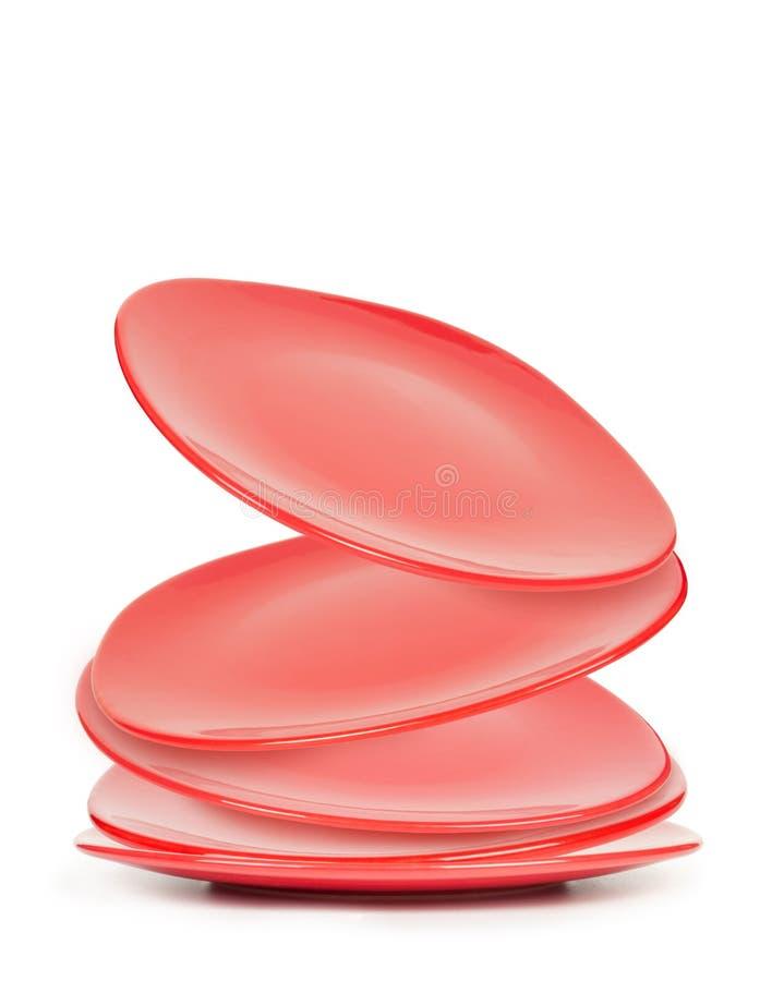 Rotes Plattenfallen lizenzfreies stockbild