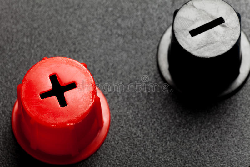 Rotes positives und schwarzes Negativ lizenzfreies stockbild