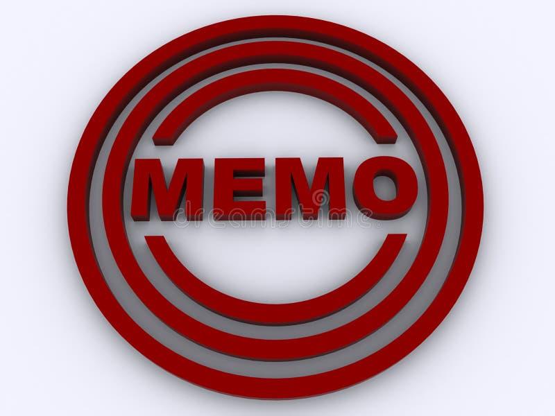 Rotes Protokoll in den Kreisen grafisch stock abbildung