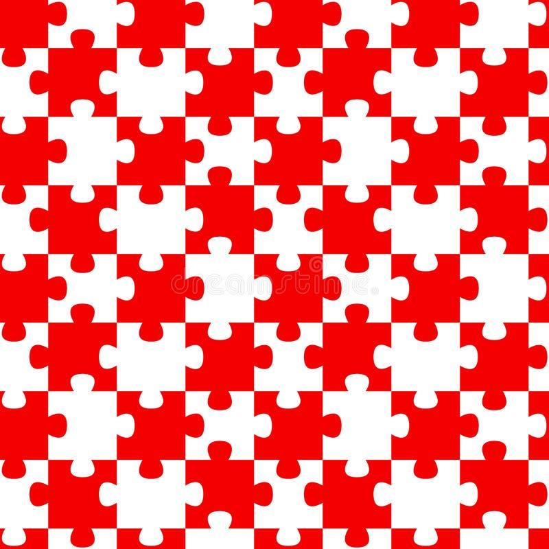 Rotes Puzzle bessert nahtlosen Hintergrund aus stock abbildung