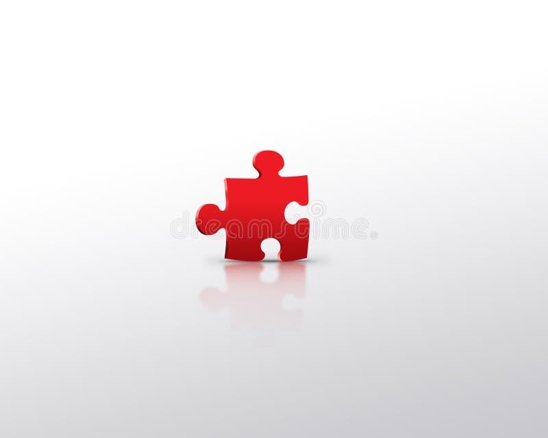 Rotes Puzzlespiel alleine vektor abbildung