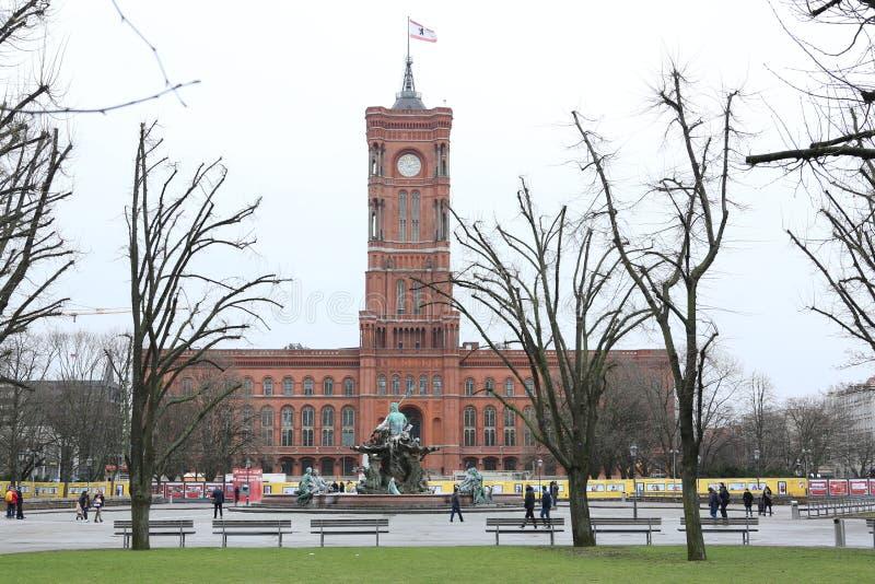 Rotes-rathaus Berlin lizenzfreies stockbild