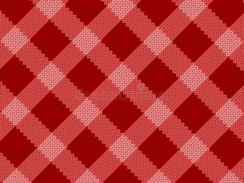 Rotes realistisches Gewebemuster vektor abbildung