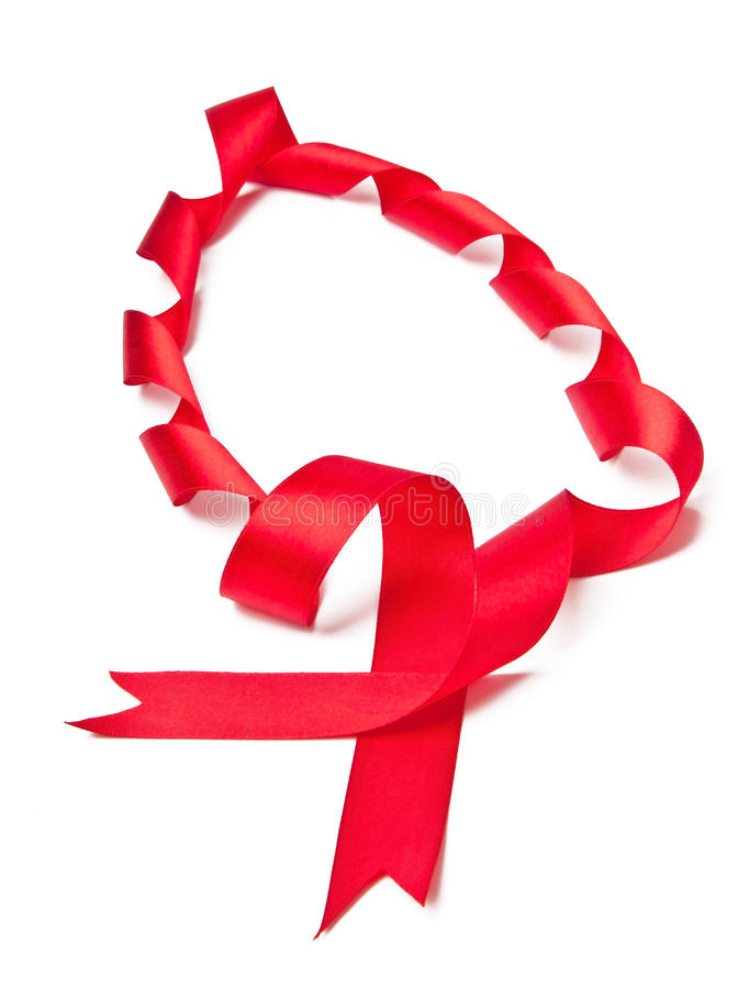 Download Rotes Satinfarbband stockbild. Bild von weihnachten, dekoration - 27728837