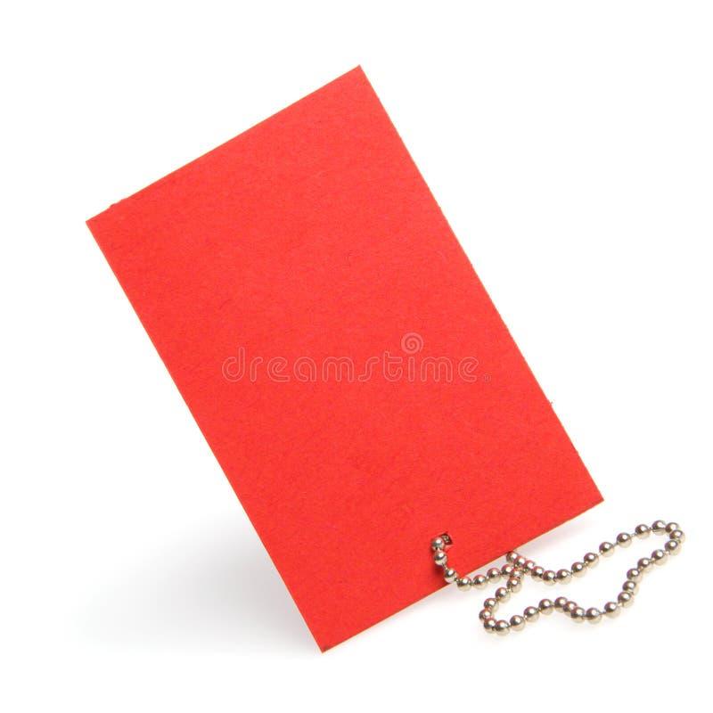 Rotes sauberes labe lizenzfreie stockbilder