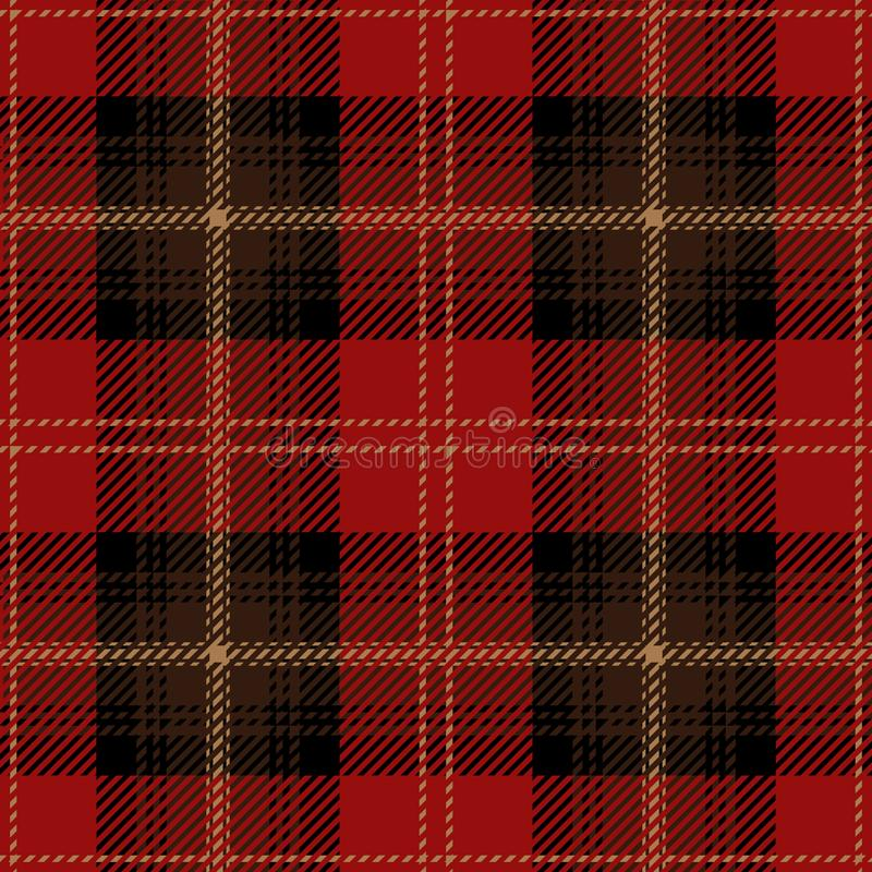 Rotes Schottenstoff-Plaid-nahtloses schottisches Muster lizenzfreie abbildung