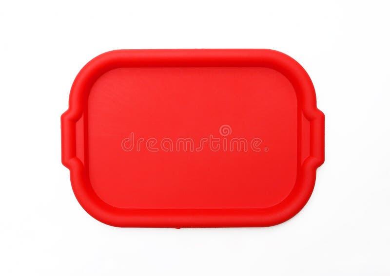 Rotes Schulmahlzeit-Umhüllung-Tellersegment/Platte stockfotografie