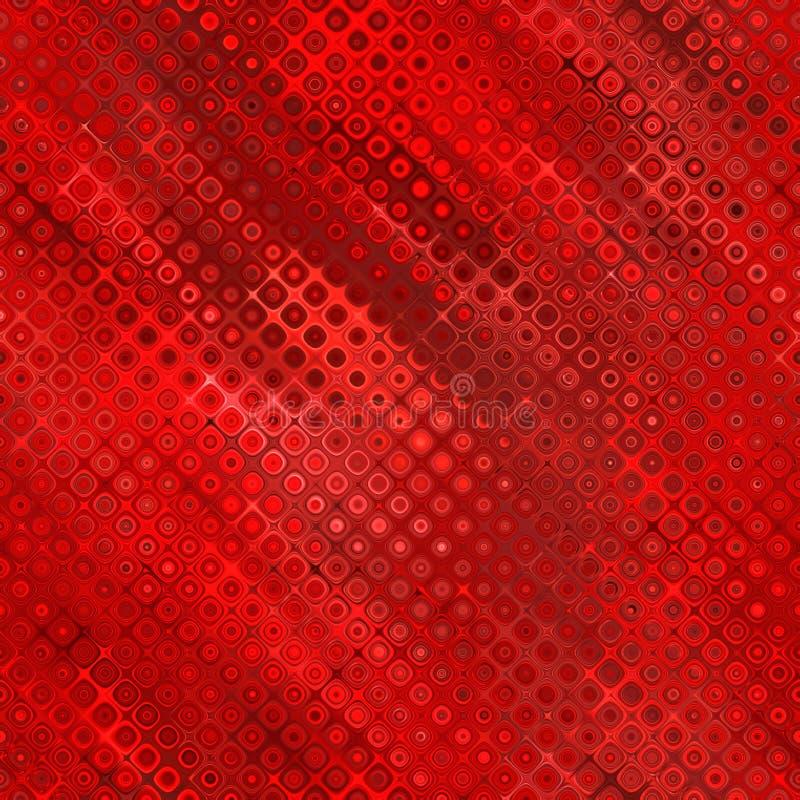 Rotes seidiges Retro- Halbtonbild stock abbildung