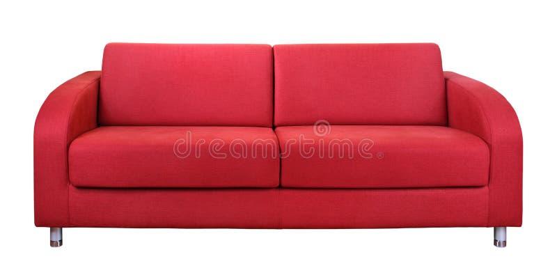 Rotes Sofa stockfotos