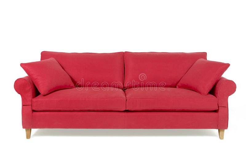 Rotes Sofa stockbild