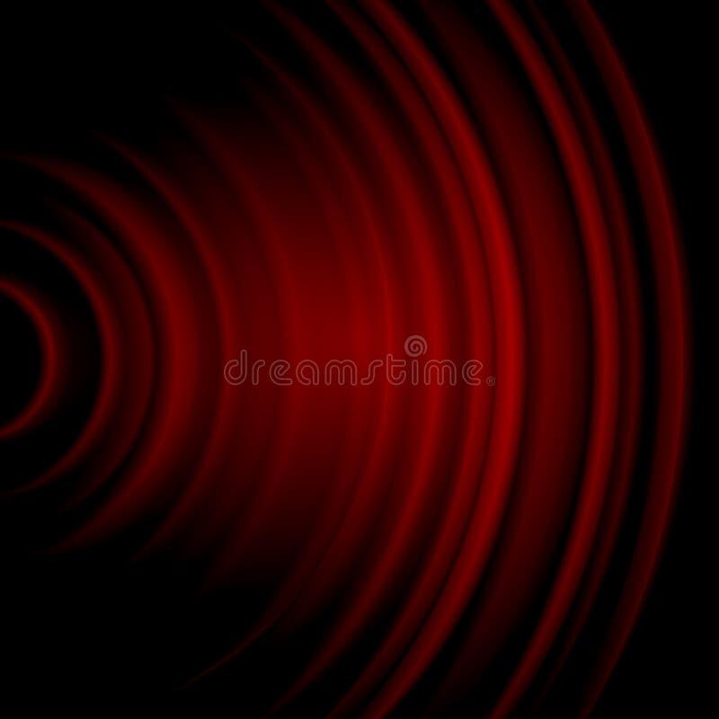 Rotes Soundwave vektor abbildung