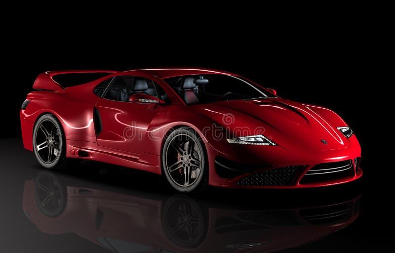 Rotes Sportauto Gtvz lizenzfreie abbildung