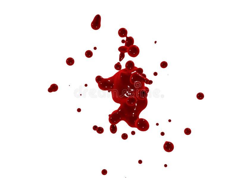 Rotes Spritzen lizenzfreie abbildung