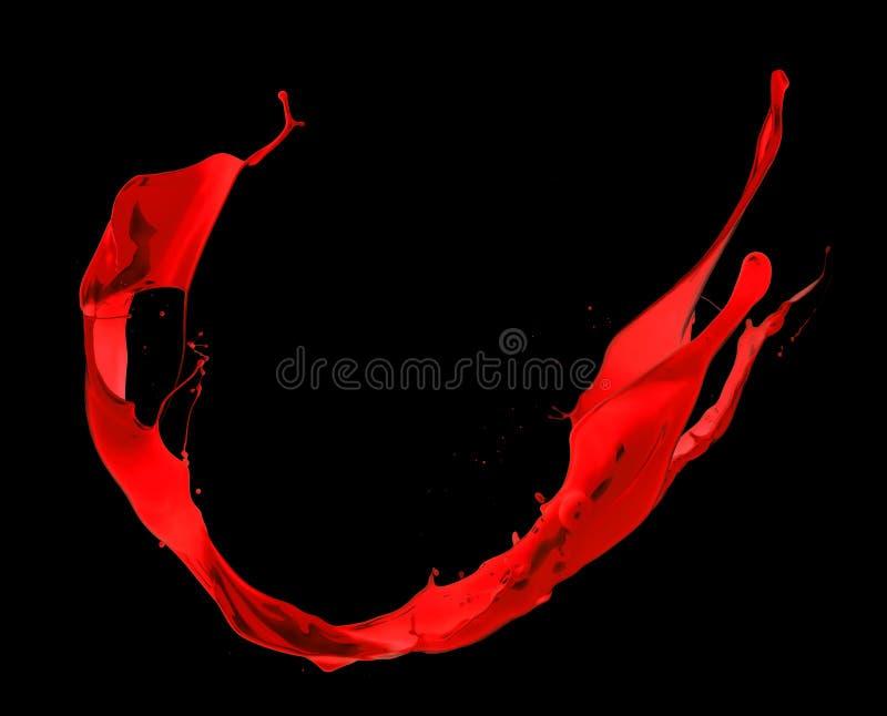 Rotes Spritzen lizenzfreie stockfotografie