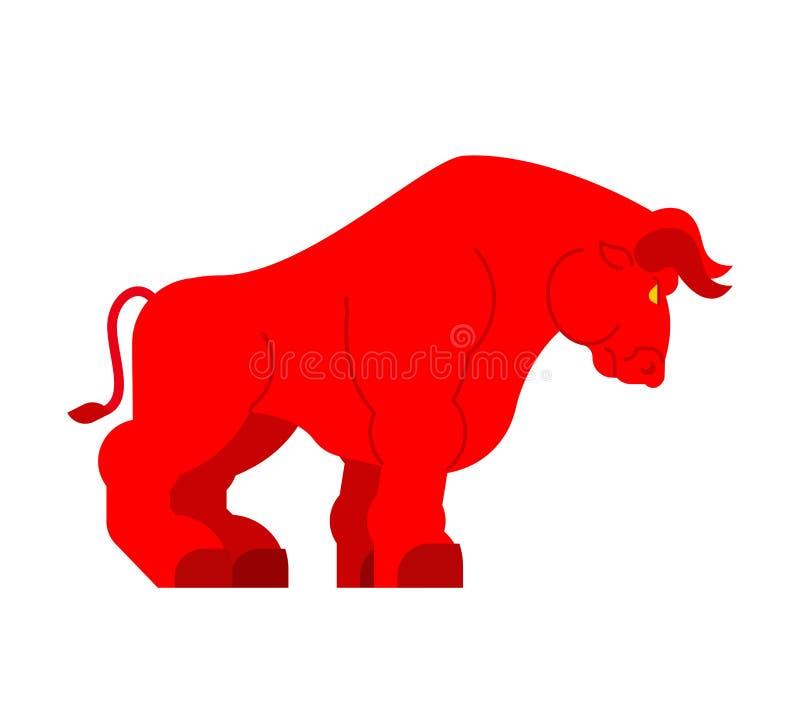 Rotes starkes Stiers lokalisiert Großmachtbüffel lizenzfreie abbildung