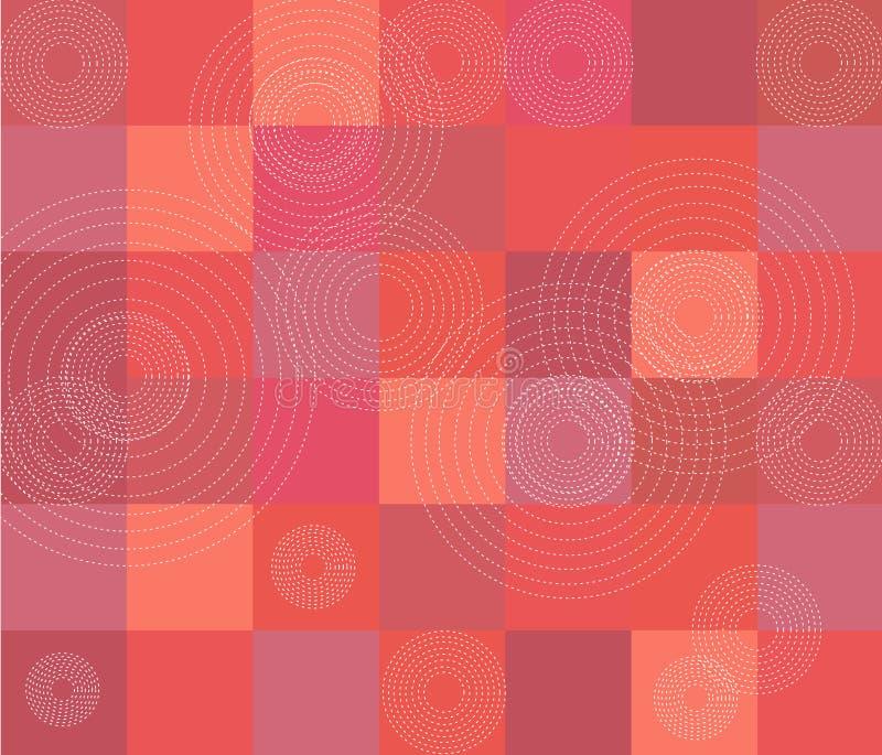 Rotes Steppdeckemuster vektor abbildung