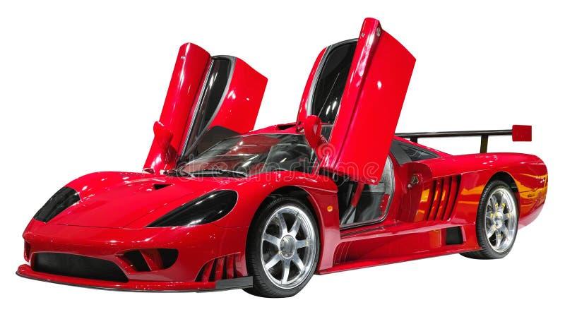 Rotes supercar stockfoto