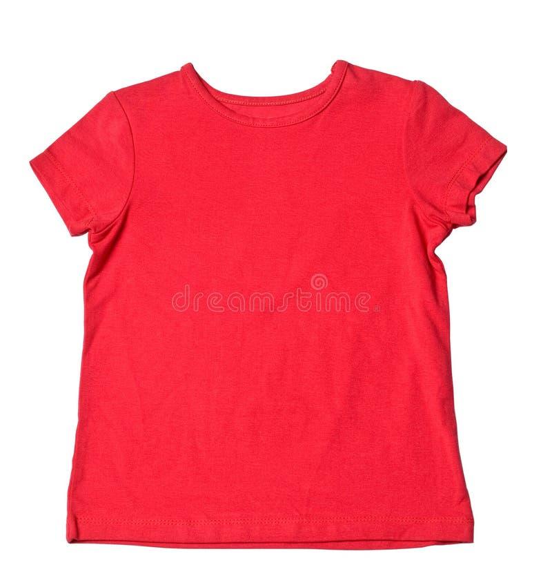 Rotes T-Shirt lizenzfreie stockfotografie