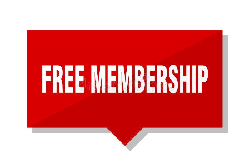 Rotes Tag der freien Mitgliedschaft vektor abbildung