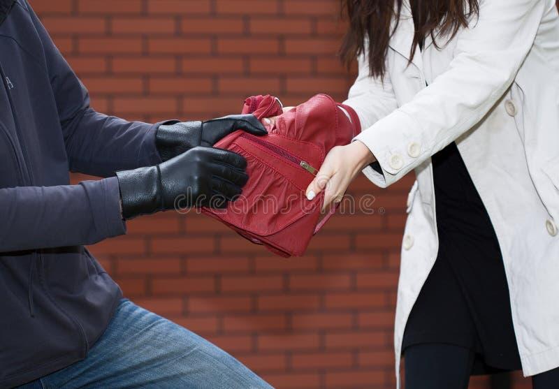 Rotes Taschenheftig ziehen lizenzfreies stockbild