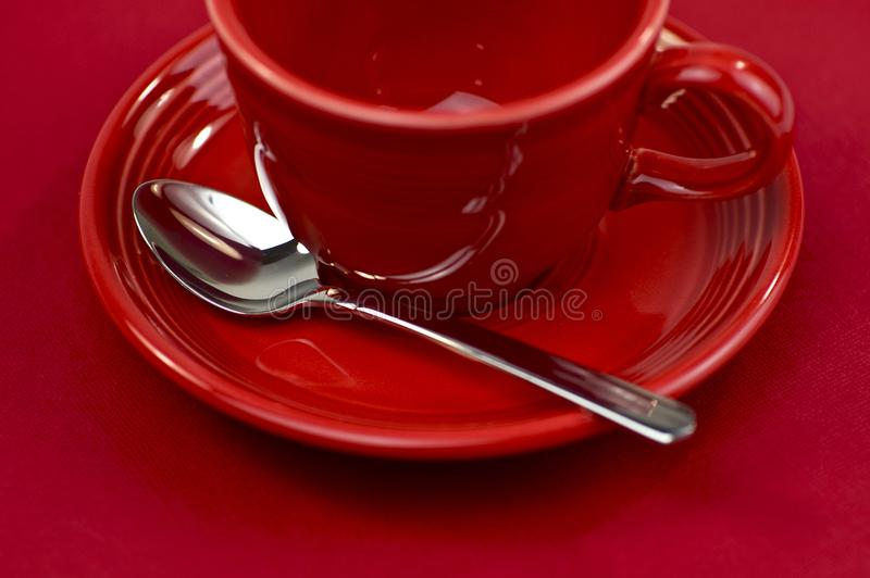 Rotes Tee-Cup stockfoto