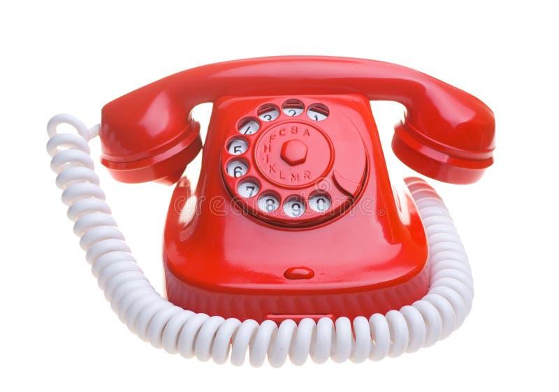 Rotes Telefon lizenzfreie stockfotografie