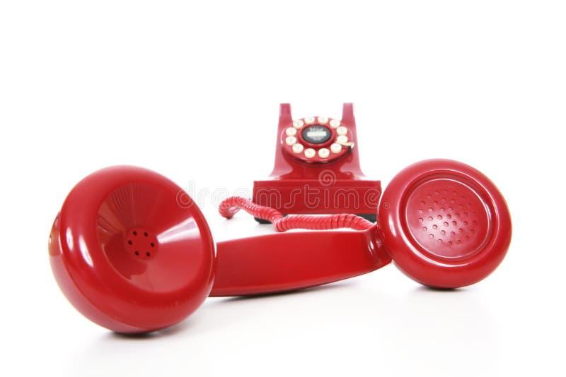 Rotes Telefon stockfotografie