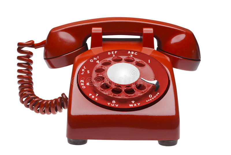 Rotes Telefon, getrennt stockbild